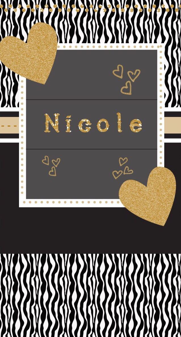 Nicole My Name Wallpaper Name Wallpaper Screen Savers Wallpapers