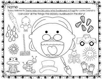 23+ Old lady who swallowed a fly coloring page download HD