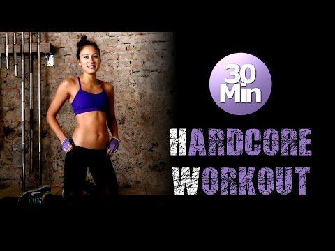30 Min Hardcore HIIT Workout - Fettverbrennung und Muskelkater garantiert :) - YouTube