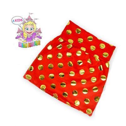 Girls gold red polkadot s... - A Kids Dream Boutiqu... | Scott's Marketplace
