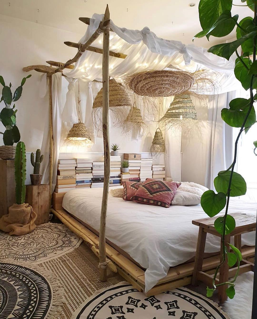 10 Charming And Rustic Beautiful Bedrooms Idea Of Decoration In 2020 Bohemian Bedroom Design Nature Inspired Bedroom Bedroom Inspirations