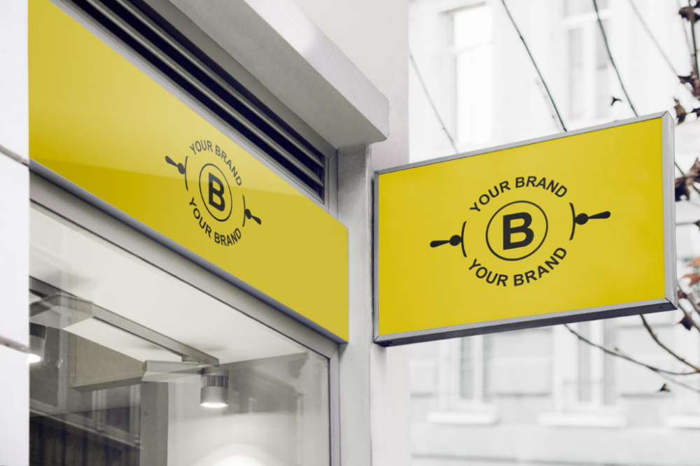 [Freebie] 8 Logo Mockup Templates on Store Fronts