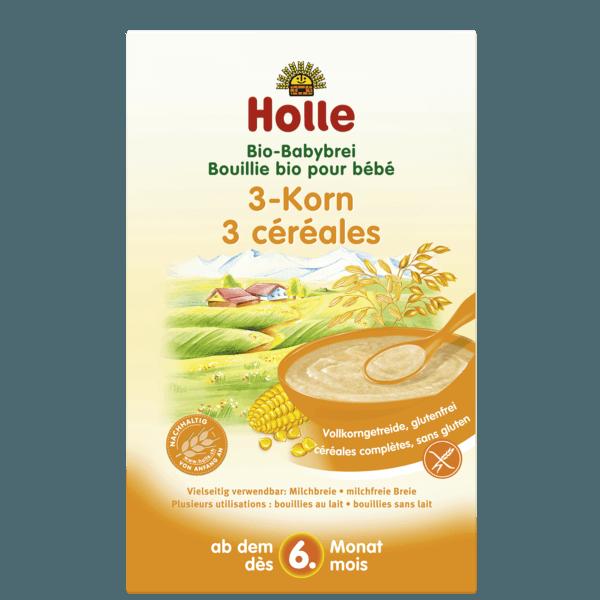 Holle Organic 3 Grain Porridge 250g 6 Months Formuland Baby Food Recipes Baby Food Processor Baby Food Jar Crafts
