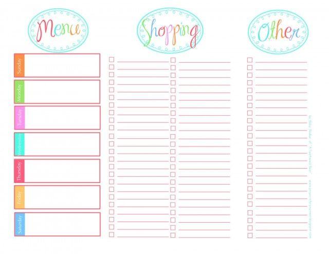 20 Free Menu Planner Printables Printable menu, Menu planners - free menu planner template