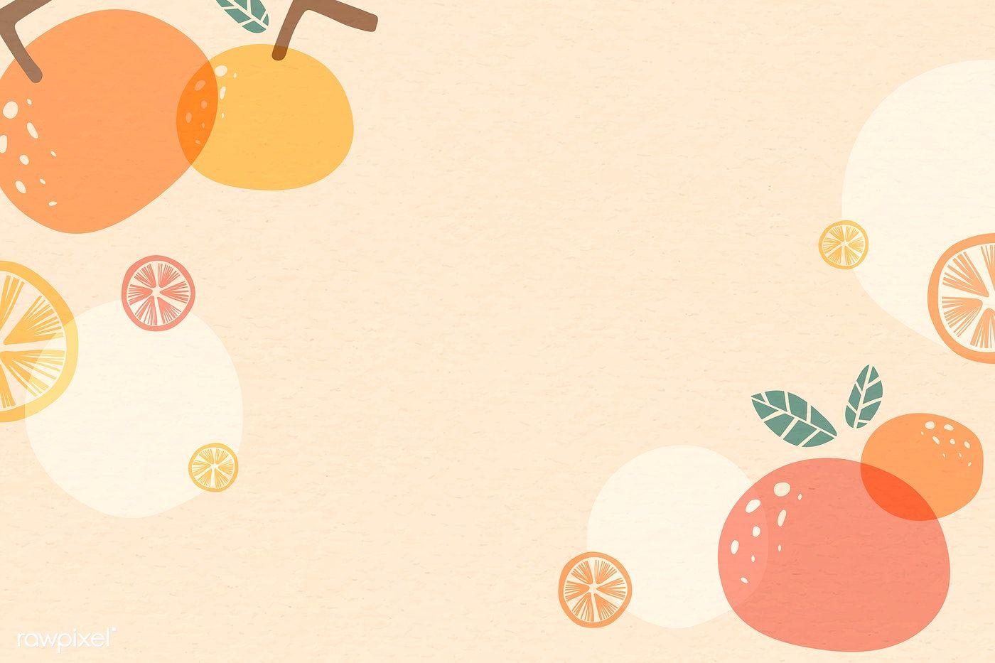 Download Premium Vector Of Orange Patterned Background With Design Space Powerpoint Background Design Floral Prints Art Aesthetic Desktop Wallpaper