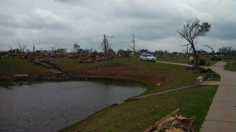 On the very outskirts of the path that the may 20th tornado took.