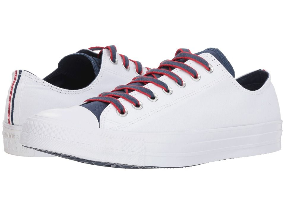 257794293ab Converse Chuck Taylor(r) All Star(r) Ox - Court Prep Block Classic Shoes  White Navy Gym Red