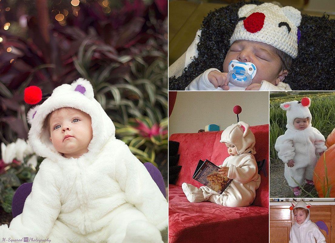 Babies dressed up as moogles ^_^
