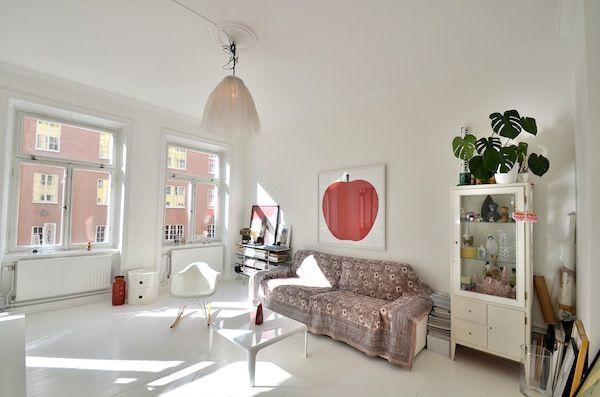 Scandinavian Boho styled apartment in Stockholm | Déco salon ...