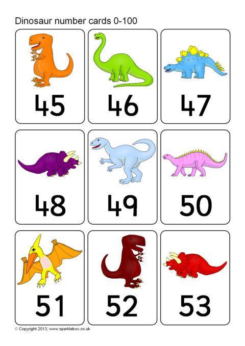 Dinosaur Number Cards 0 100 Sb9842 Sparklebox In 2020 Number Cards Preschool Number Cards Dinosaur Preschool dinosaur matching worksheet