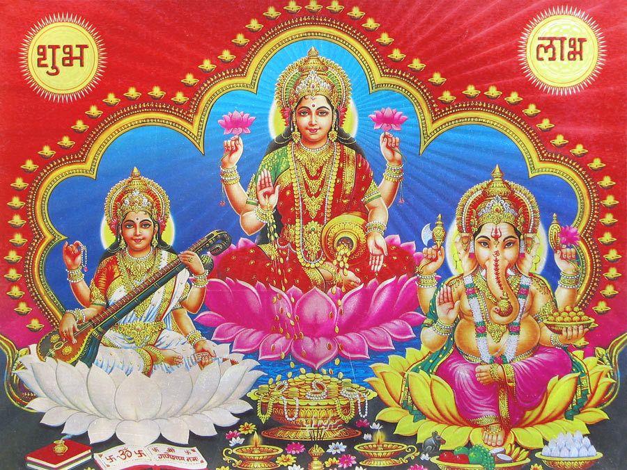 Lakshmi Saraswati And Ganesha Saraswati Photo Photo Wallpaper Desktop Wallpaper