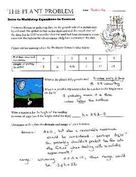 Algebra Performance Task Multistep Equations With Tables And Graphs Performance Tasks Multi Step Equations Algebra