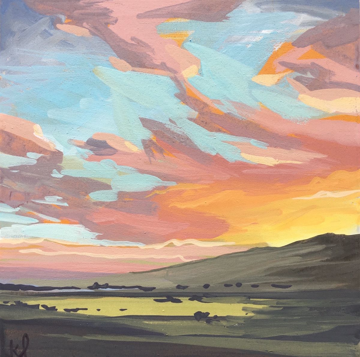 Grapefruit Sunset Sky — Khara Ledonne
