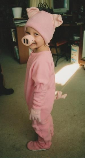 Do it yourself children 39 s pink pig halloween costume for under 15 homemade farm animal - Cochon de toy story ...