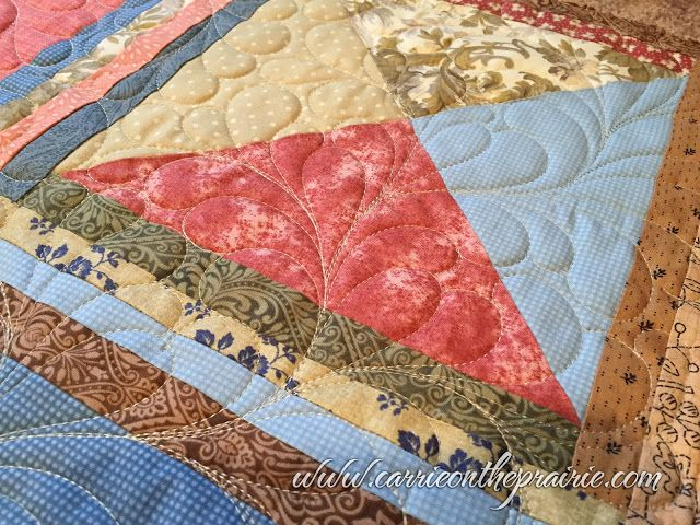 Carrie On The Prairie: Judy's Antiqued quilt
