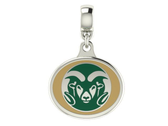 Colorado State Rams Leather Bracelet with Snap Closure 7 to 9