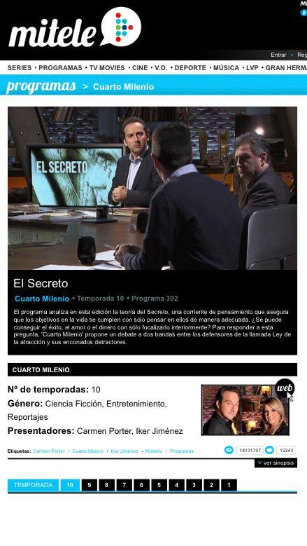 CuartoMilenio se mantiene en forma: Audiencias de ayer, 9.3% y ...