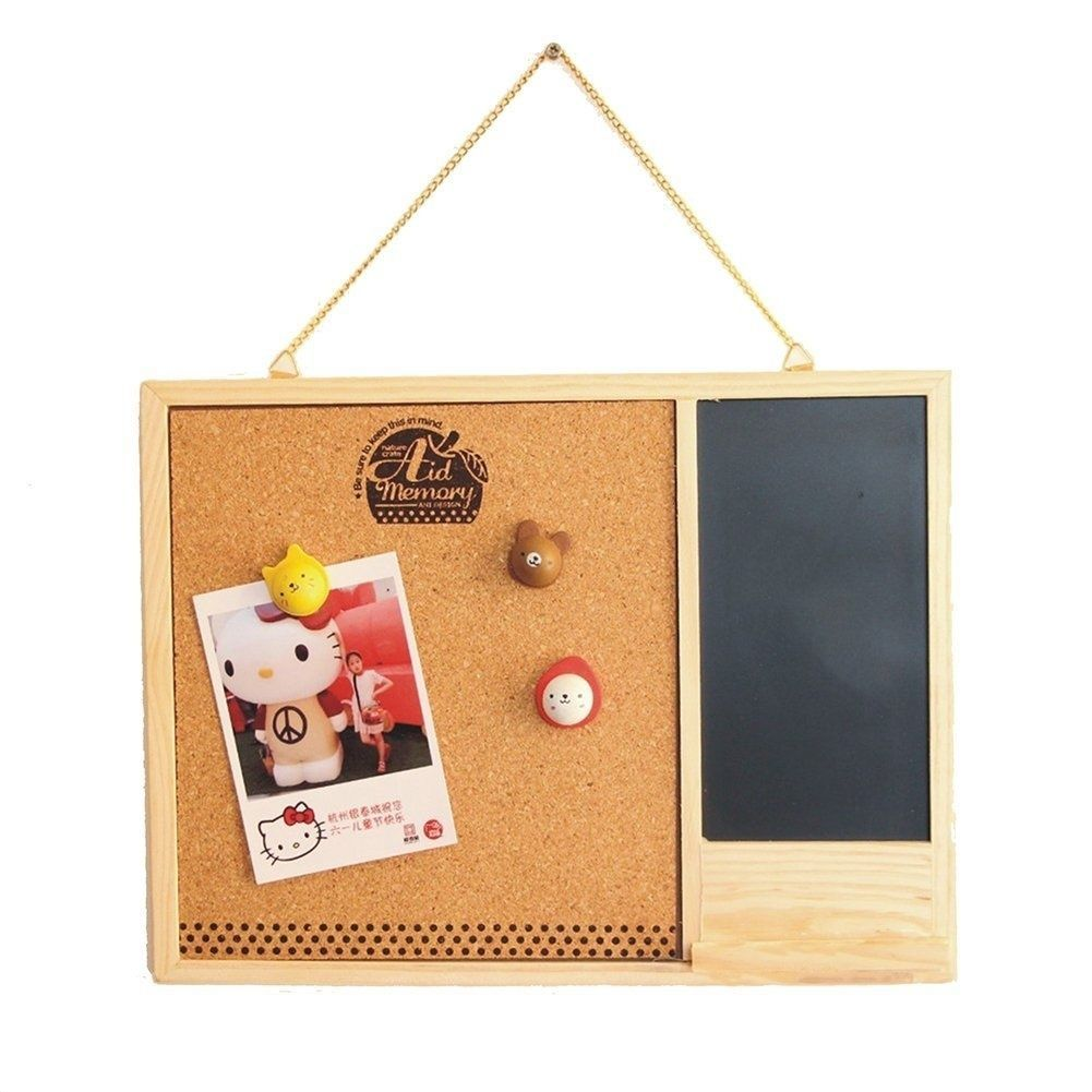 Wooden Framed Cork Pin Notice Memo Board MmMm For Office Home