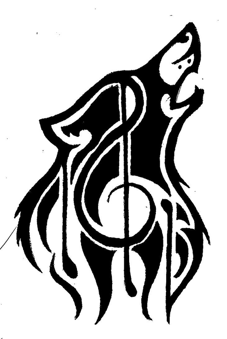 The Quileute Tribe Wolf Pack Tattoo Was Invented For The Film Adaptation Of The Twilight Saga New Moon Descri Tribal Wolf Tattoo Music Tattoos Music Drawings