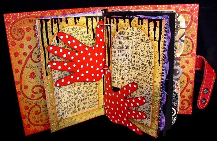 Altered book by Ingrid Dijkers.