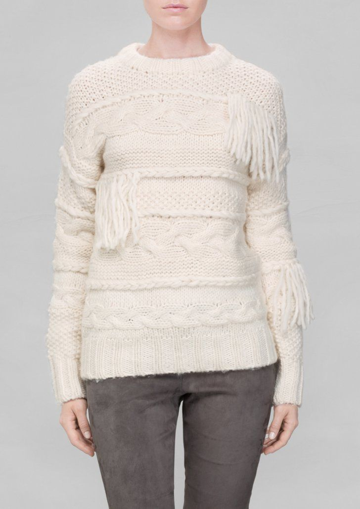 Pin for Later: The November Fashion Finds Our Editors Can't Stop Talking About & Other Stories Fringe Wool Sweater