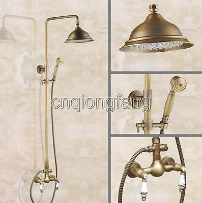 Details About Vintage Antique Brass Rain Shower Faucet Set W Hand