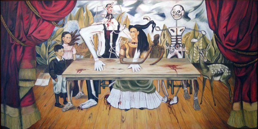 La mesa herida, 1940 por Frida Kahlo (med billeder)