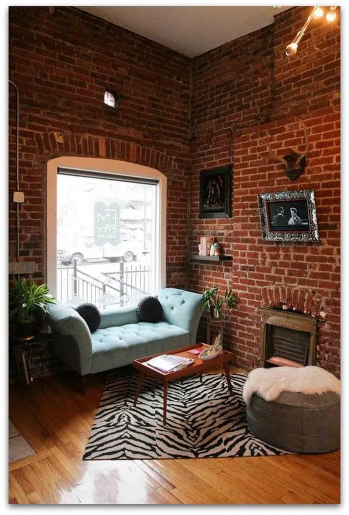 Pin By Barsha On Harmony Ideas In 2020 Brick Interior Wall Industrial Apartment Decor Apartment Design