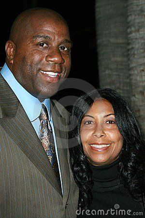 bbd46e1f5d Happy Birthday Mr. Magic Johnson- © Sbukley (Audiomicro Inc.) |  Dreamstime.com- Magic Johnson and Cookie Johnson at the premiere of Why Did  I Get Married?