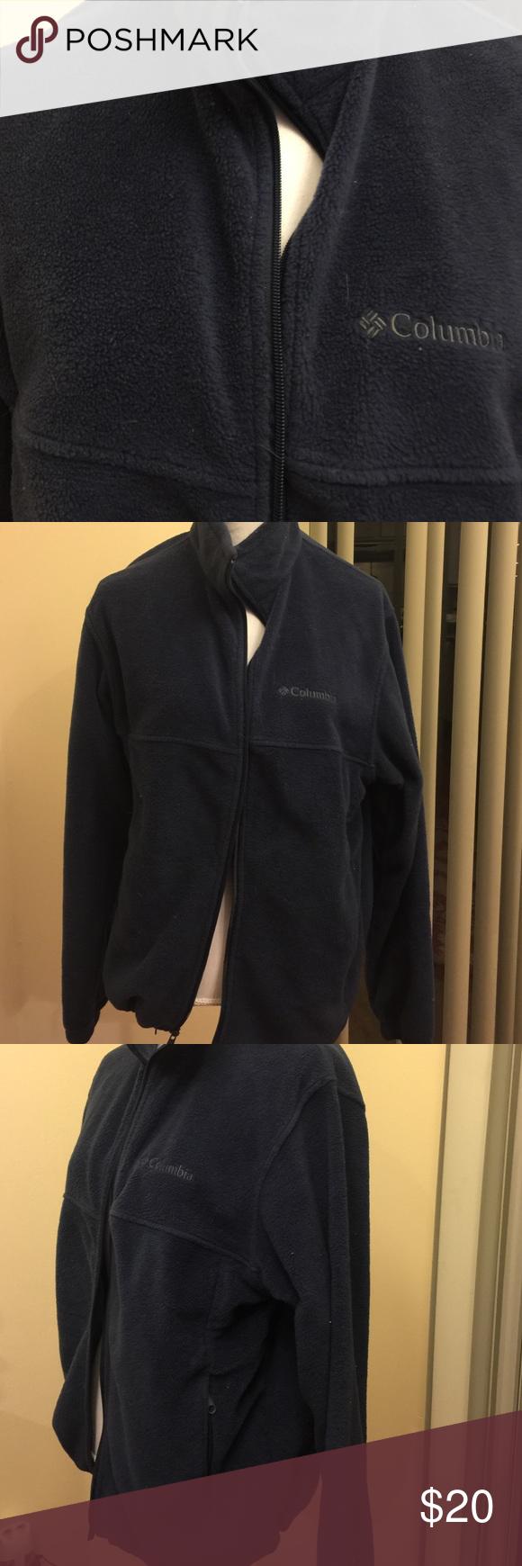 Columbia fleece zip up mens fleece jacket