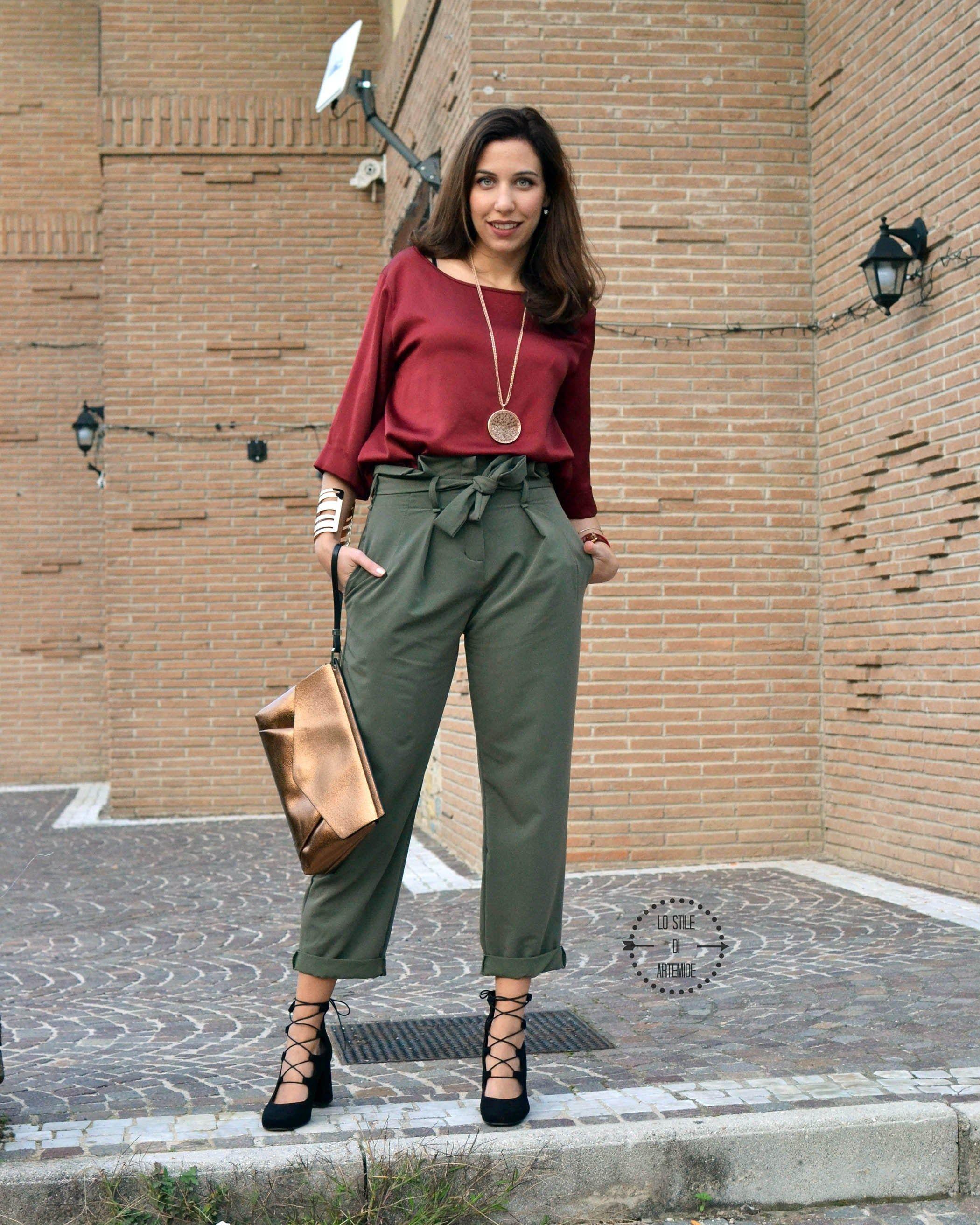 e1e8deeb4a9388 Pantaloni vita alta e decolletè con lacci, un outfit autunnale firmato Zuiki  e Bata Shoes