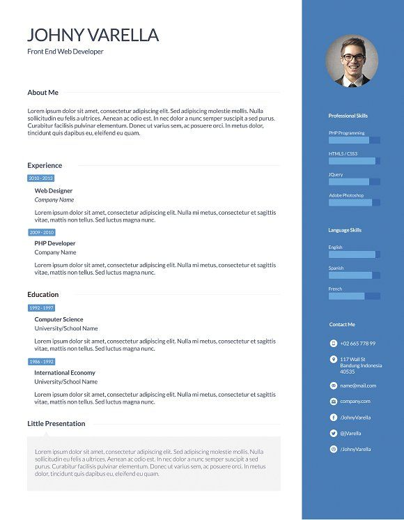 Yudistira Flat and Clean Resume by Suave Digital on - clean resume design
