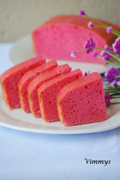 Eggless Strawberry Cake