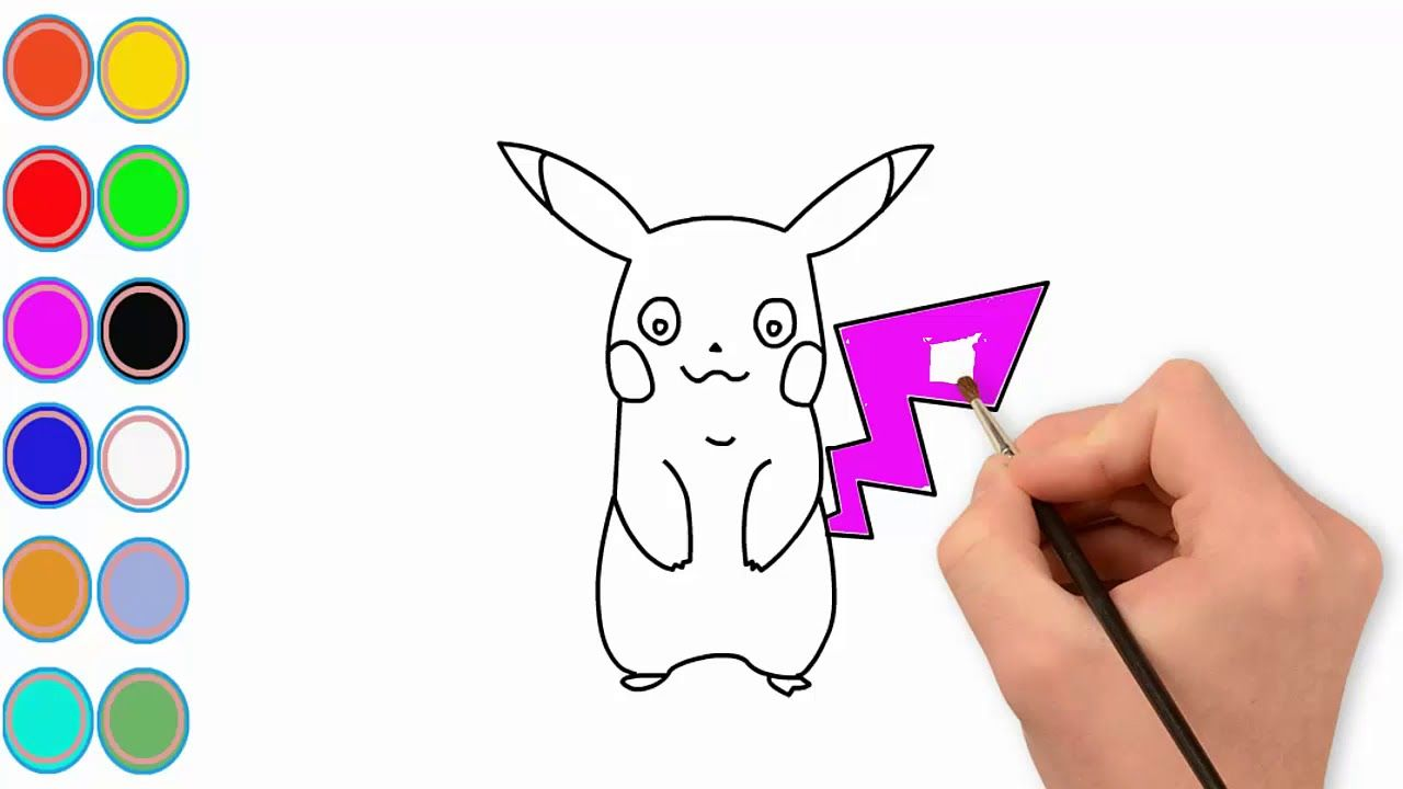 How to draw pokemon how to color pokemon learn color