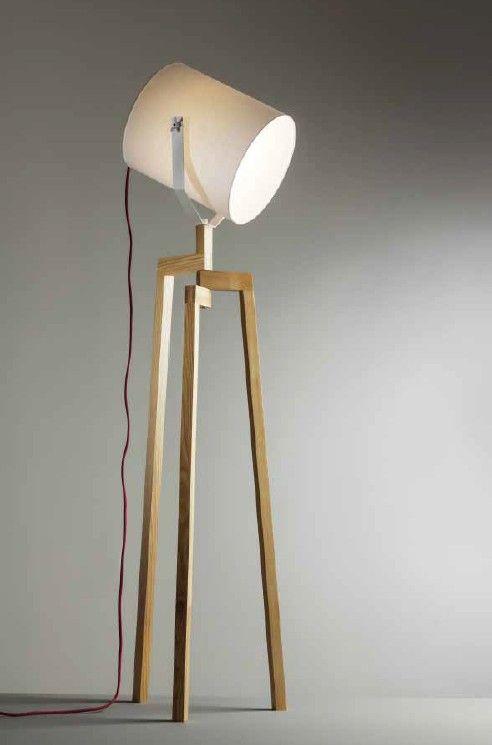 ACANTO LAMPADA DA TERRA IN LEGNO Lampade da terra moderne | Design ...