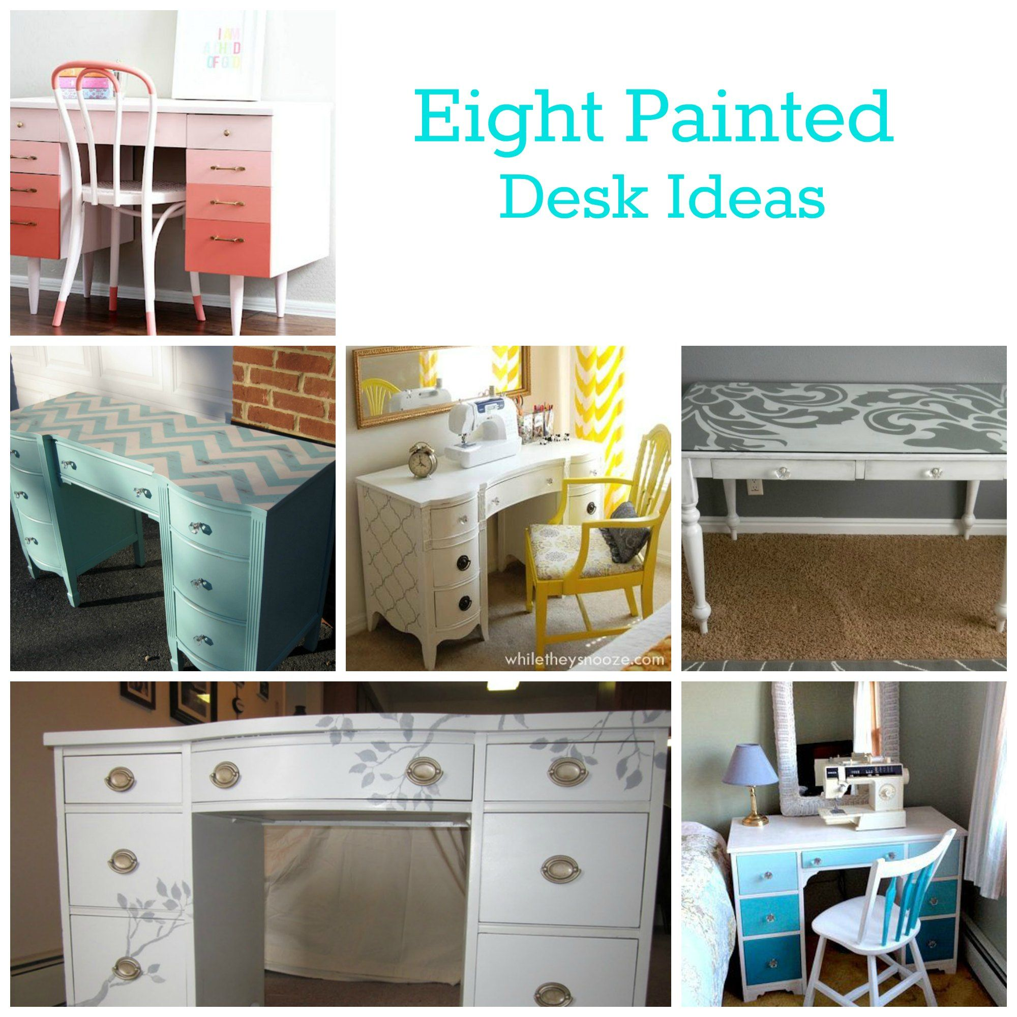 Painted Desks eight painted desk ideas | ombre, desks and blog