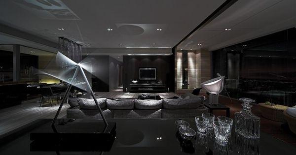 Superb Modern Living Room   High Gloss, High Contrast, High Drama Interiors