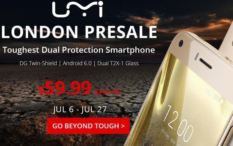 UMi London ya está disponible en preventa por menos de 60 dolares. Dispone de pantalla de 5.0 pulgadas, Android 6.0 Marshmallow y procesador de 4 núcleos.