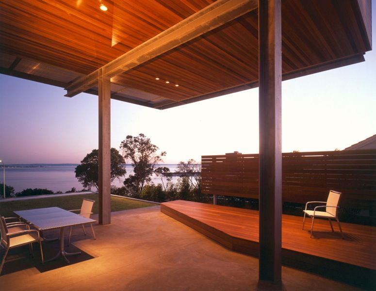 Architects In Seattle magnolia view home outdoor dining overlooking elliot bay e cobb