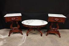 antique italian mahogany marble top