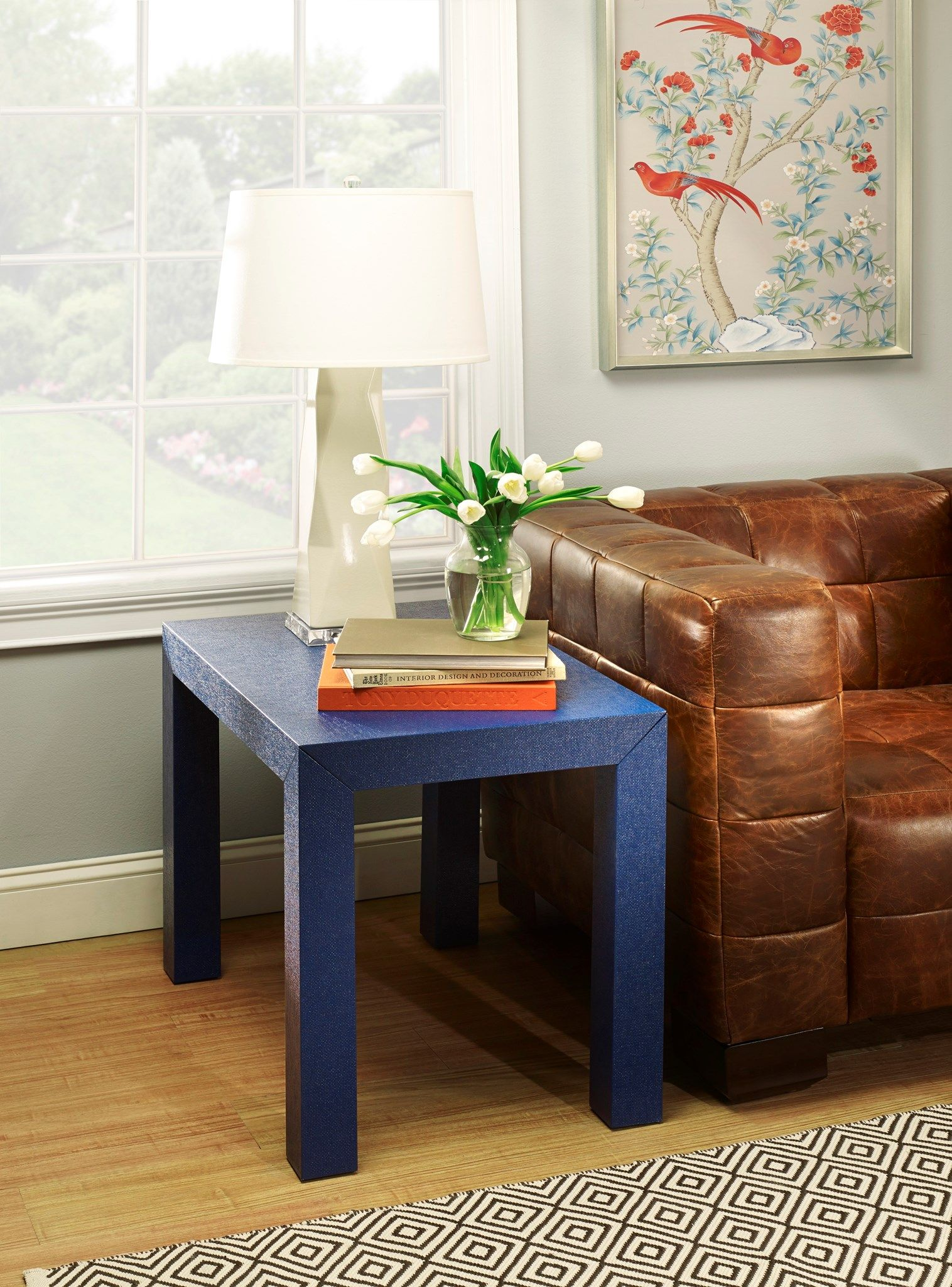 Best Bungalow 5 Parsons Side Table Navy Blue Modern Table 400 x 300