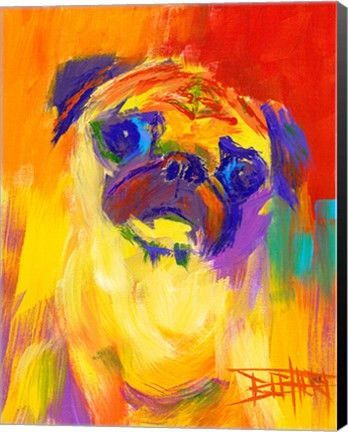 Pugness Animal Canvas Wall Art Print by Robert Blehert | Amazing ...