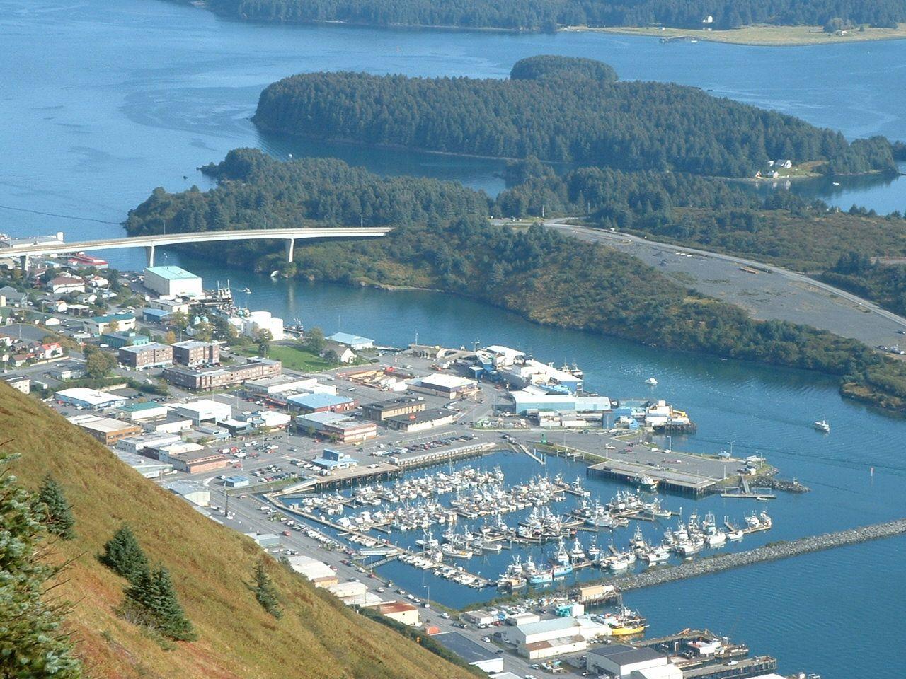 Kodiaks small boat harbor downtown travel spot