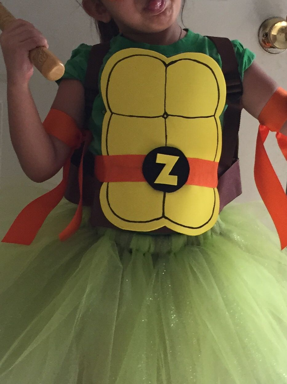 Diy ninja turtle costume for little girls i put this together diy ninja turtle costume for little girls i put this together total cost including toy solutioingenieria Image collections