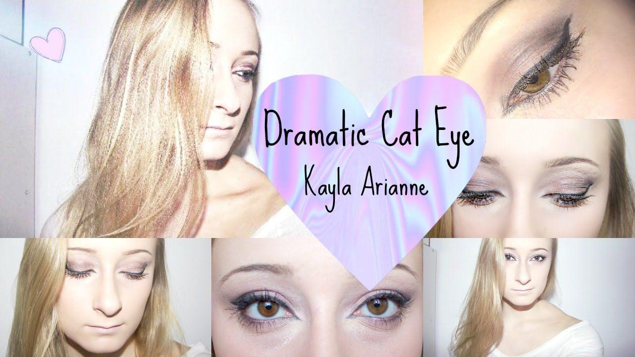 Dramatic Cat Eye & Face Makeup♡