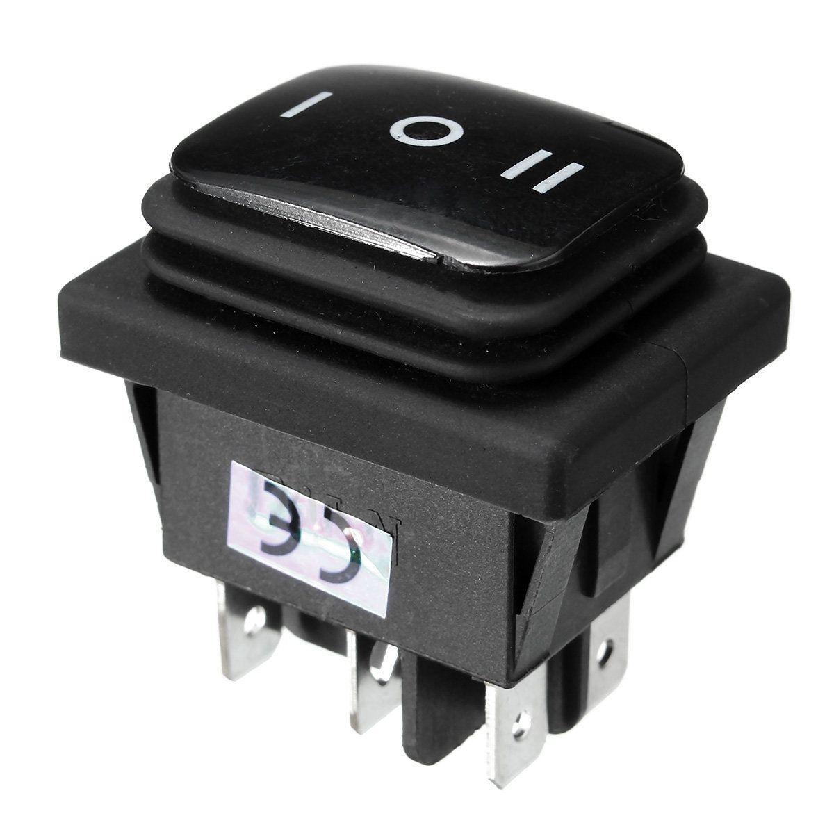 12V Waterproof 6Pin DPDT Locking ON-OFF-ON Rectangle Rocker Switch ...
