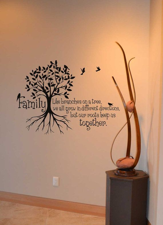 Family Like Branches On A Tree We All Grow In Different Directions Vinyl Decal Wall Words Stickers Home Decor Custom Kw019 Family Wall Decals Vinyl Wall Decals Wall Decals