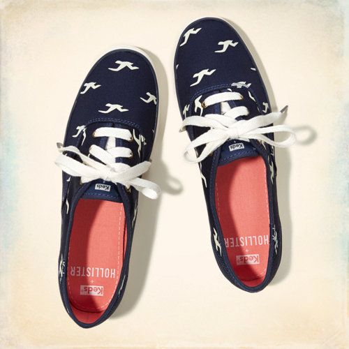 KEDS CHAMPION SEAGULL PRINT SNEAKERS