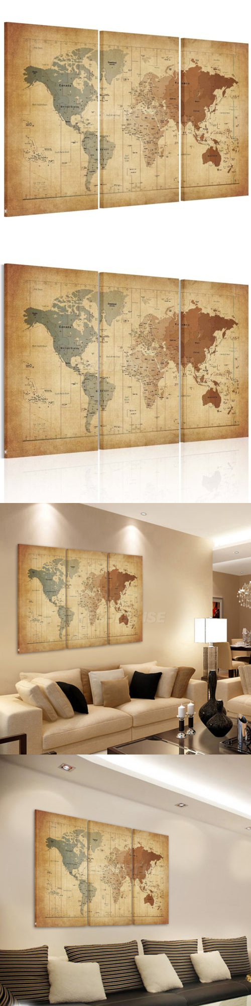 Art Paintings Mixed Media Collage: Us Ship Canvas Print Home Decor ...