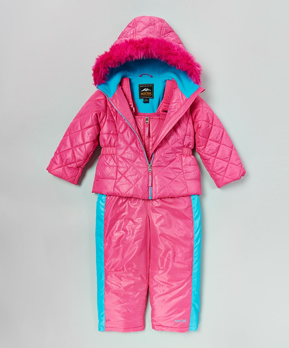 a81a24c39158 Pink   Blue Puffer Coat   Ski Bib - Infant   Toddler
